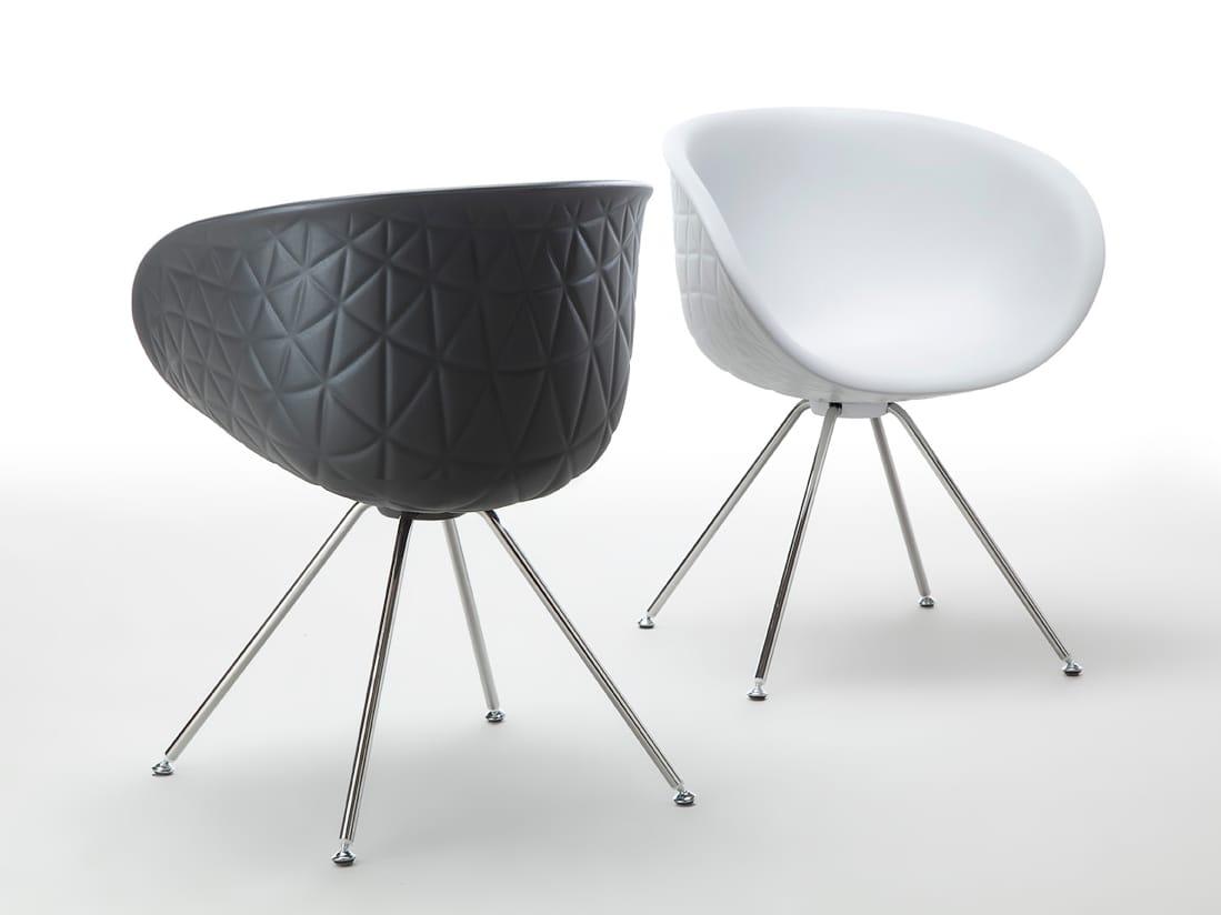 Esszimmerstühle modern weiß  Stuhl aus Polyurethan-Integralschaum mit Armlehnen STRUCTURE STEEL ...
