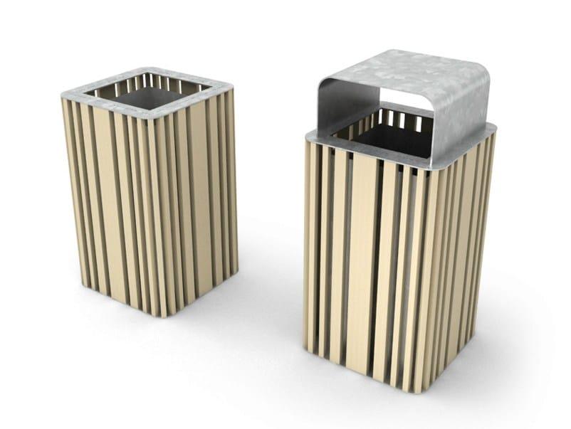 poubelle en acier pour ext rieur mokino by lab23 gibillero