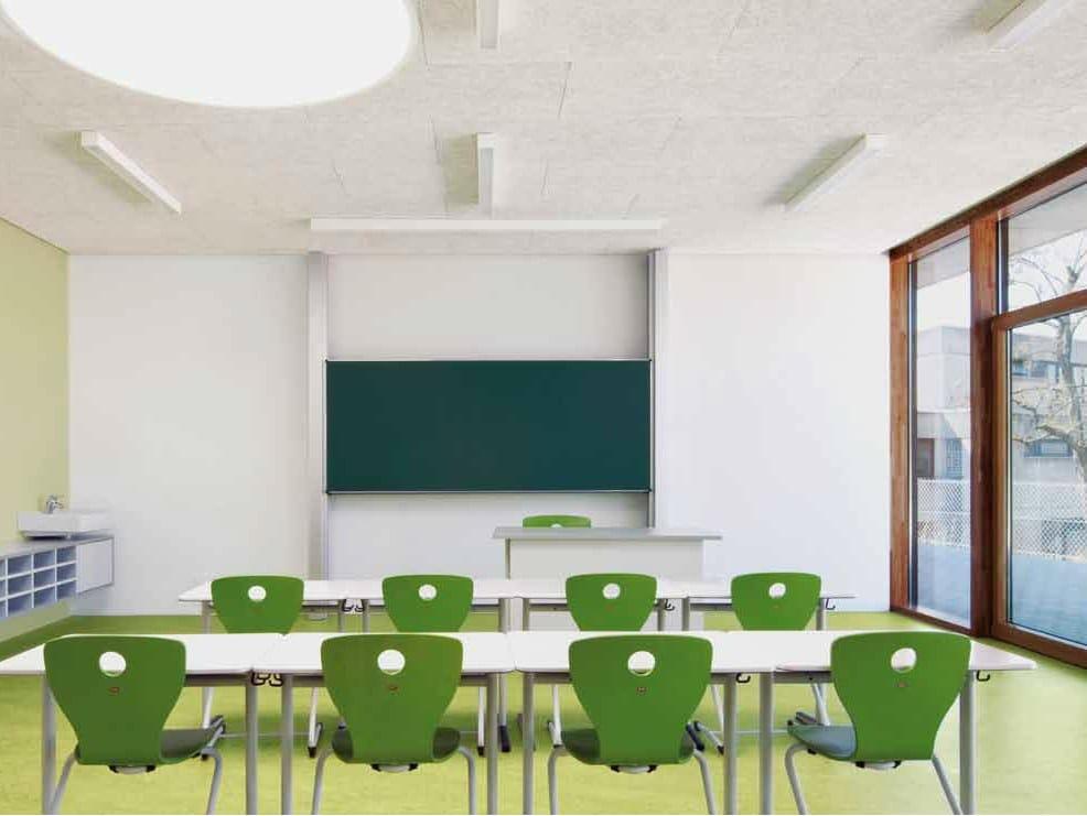 Acoustic wood wool ceiling tiles Heradesign® by Knauf AMF Italia ...