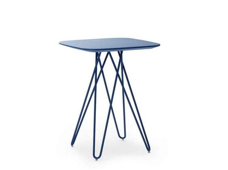 Table d 39 appoint hautes carr e de salon cimber by leolux - Table d appoint carree ...