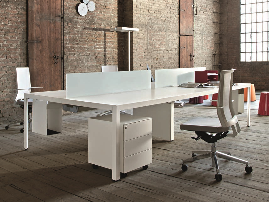 Sectional rectangular workstation desk FRAME + OPERATIVE ...