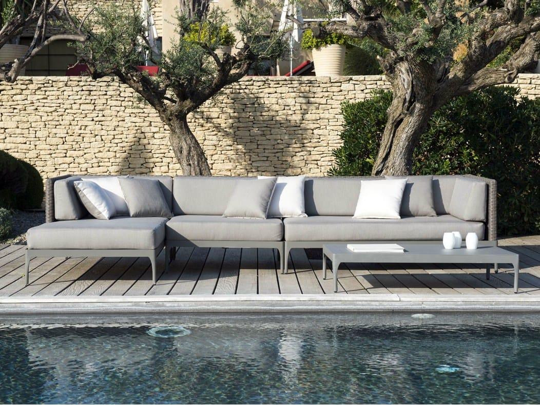 Tavolino da giardino basso rettangolare collezione for Giardino rettangolare