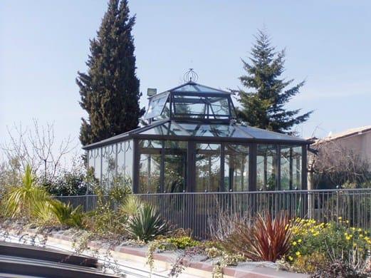 Giardino d'inverno in ferro e vetro sala lettura by cagis