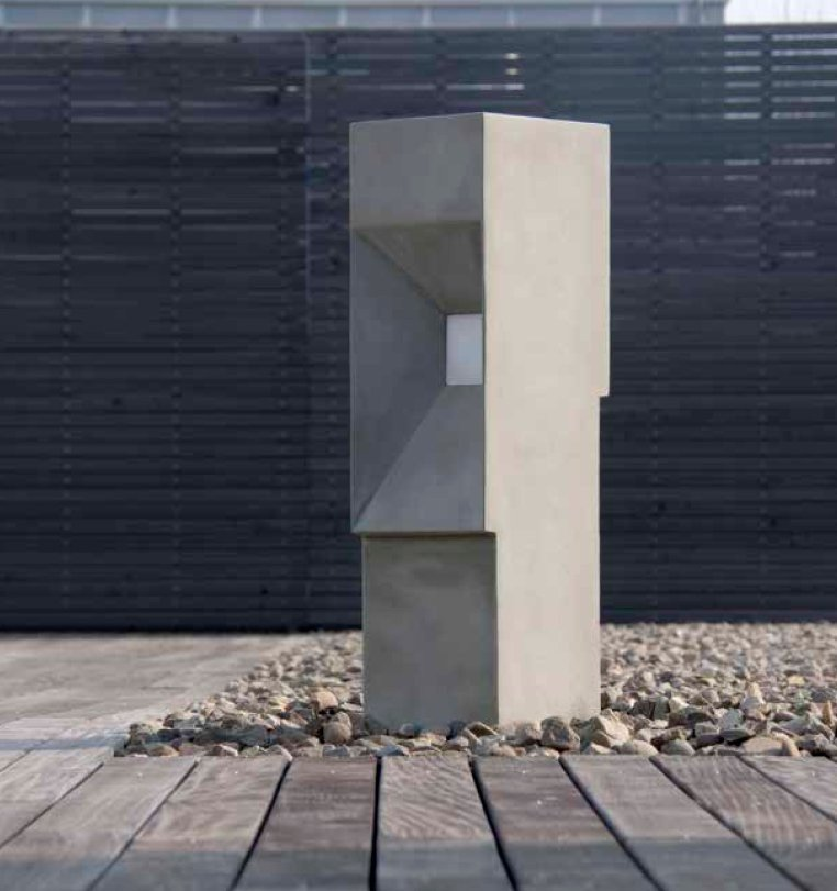 Outdoor Lamp Cad Block: BLOCK Cement Bollard Light By Platek Design Gaspare Inglese
