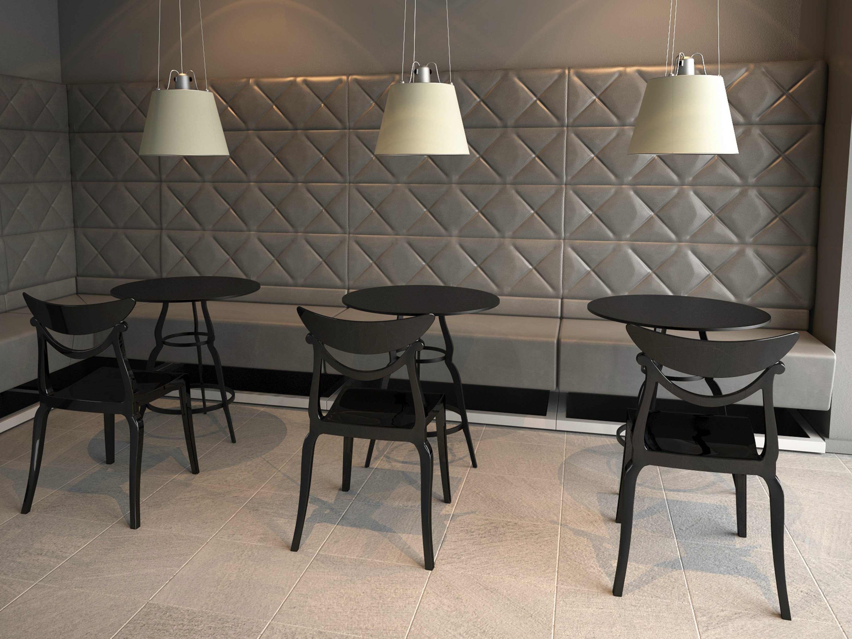 banquette pour bar et restaurant rembourr e scoop collection by alma design design andrea pagani