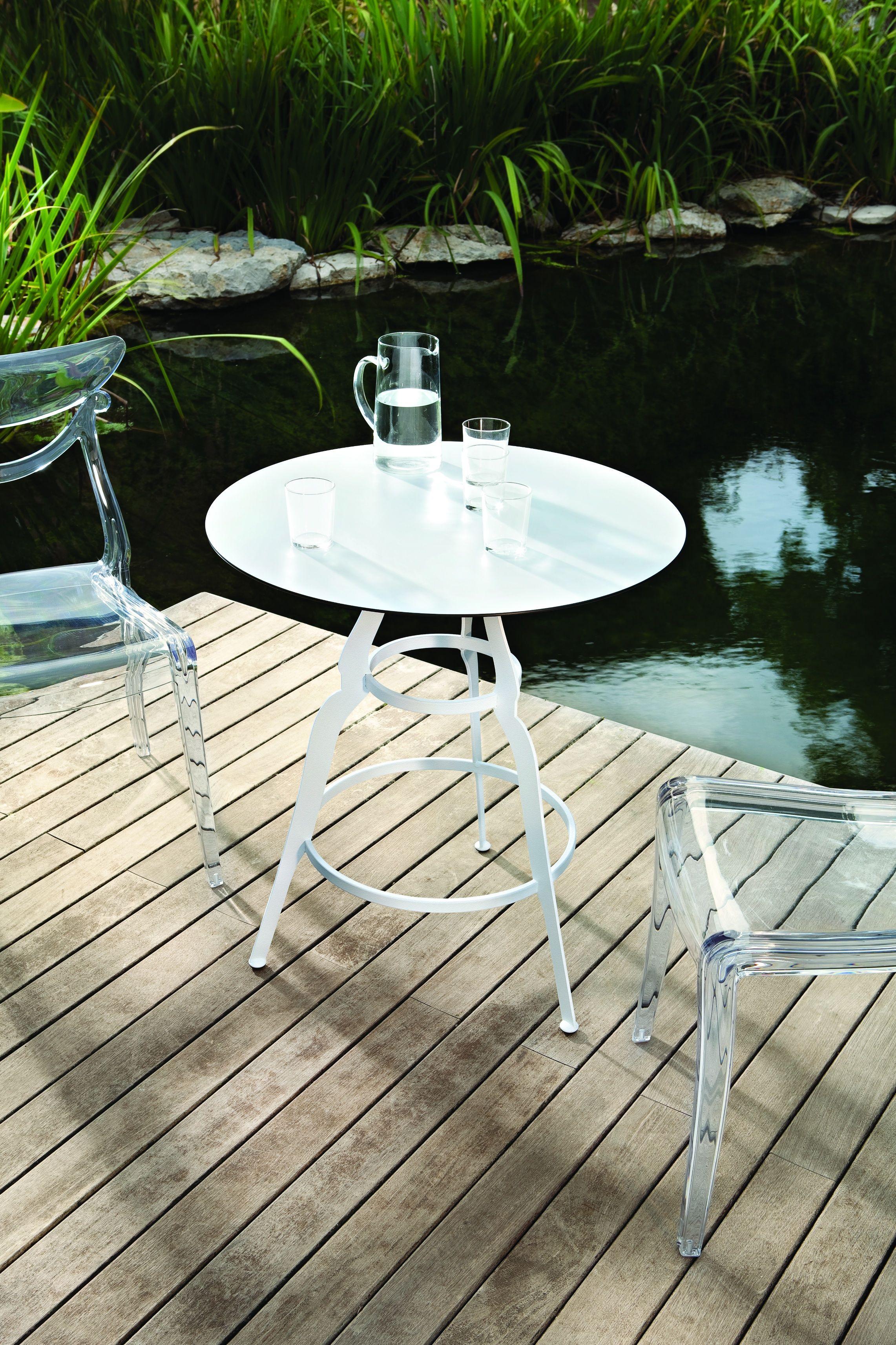 Bistr tavolo rotondo by alma design design jf smith for Tavolo hpl