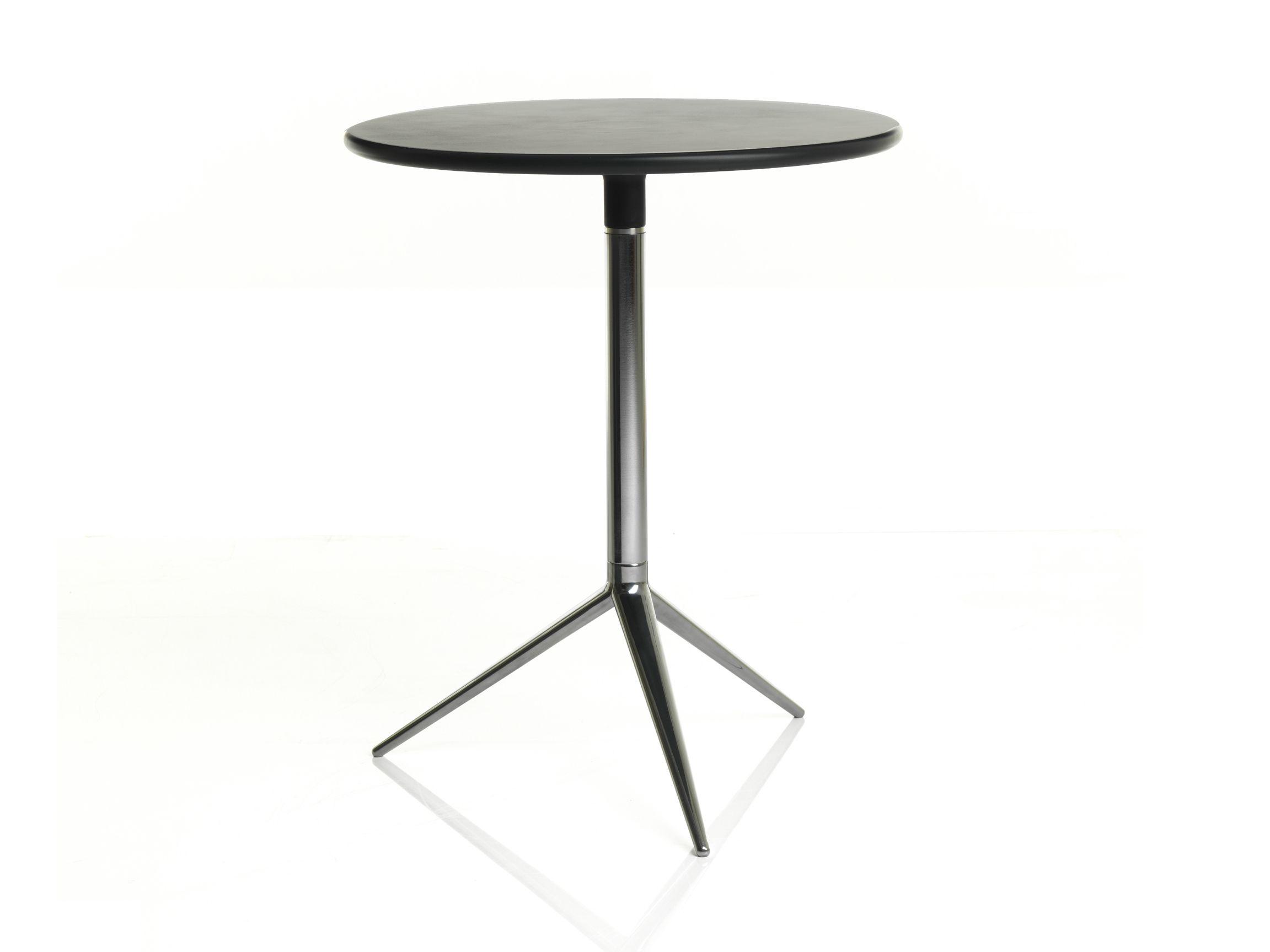 Tavolo pieghevole rotondo in alluminio collezione ciak by for Tavolo rotondo nero