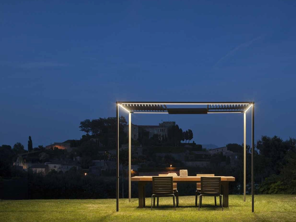 GAZEBO WITH BUILT-IN LIGHTS PALO ALTO PALO ALTO COLLECTION BY VIBIA  DESIGN ...
