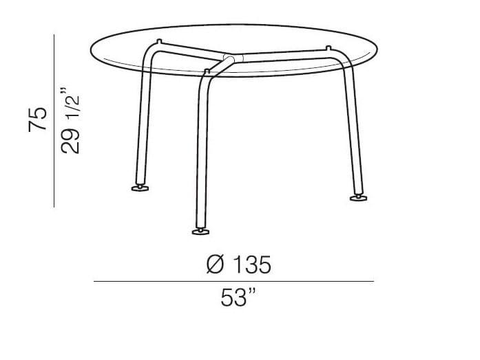 Convito tavolo rotondo by rexite design raul barbieri for Tavolo cristallo rotondo design
