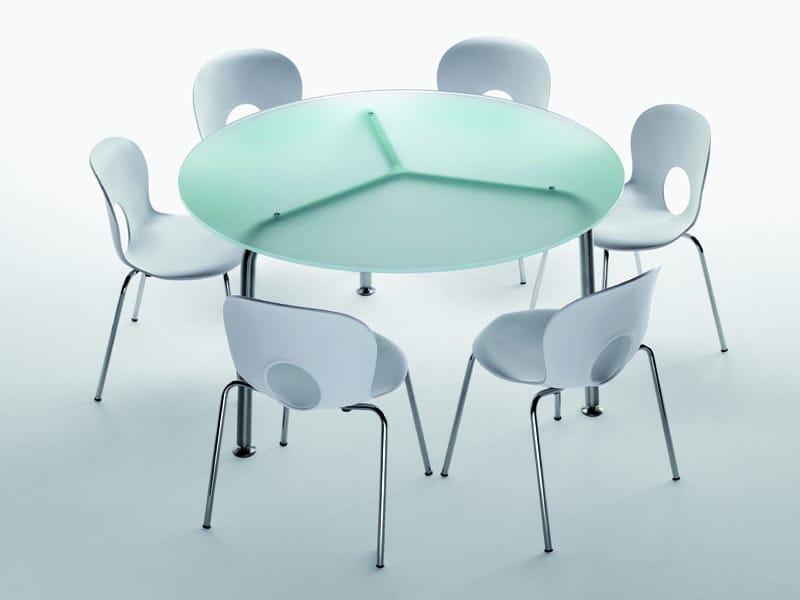 Convito mesa redonda by rexite dise o raul barbieri for Mesa redonda cristal 8 personas