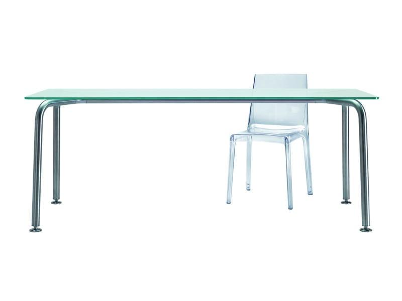 Mesa rectangular de cristal convito by rexite dise o for Mesa redonda cristal 8 personas