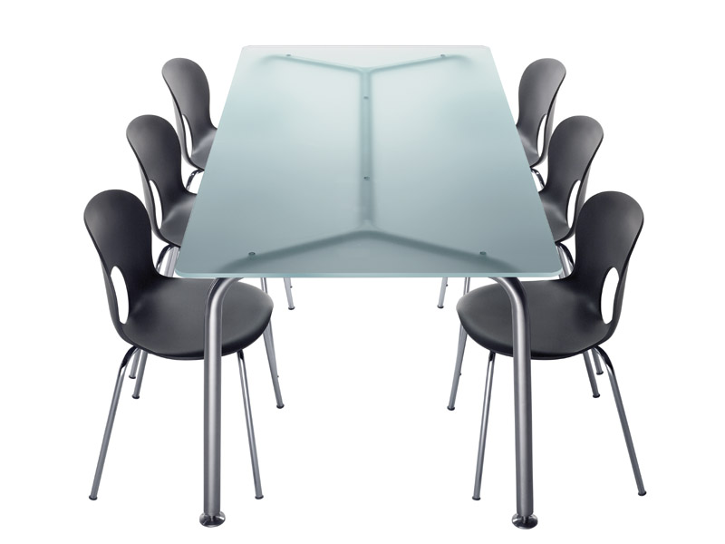 Mesa rectangular de cristal convito by rexite dise o for Mesa cristal 4 personas