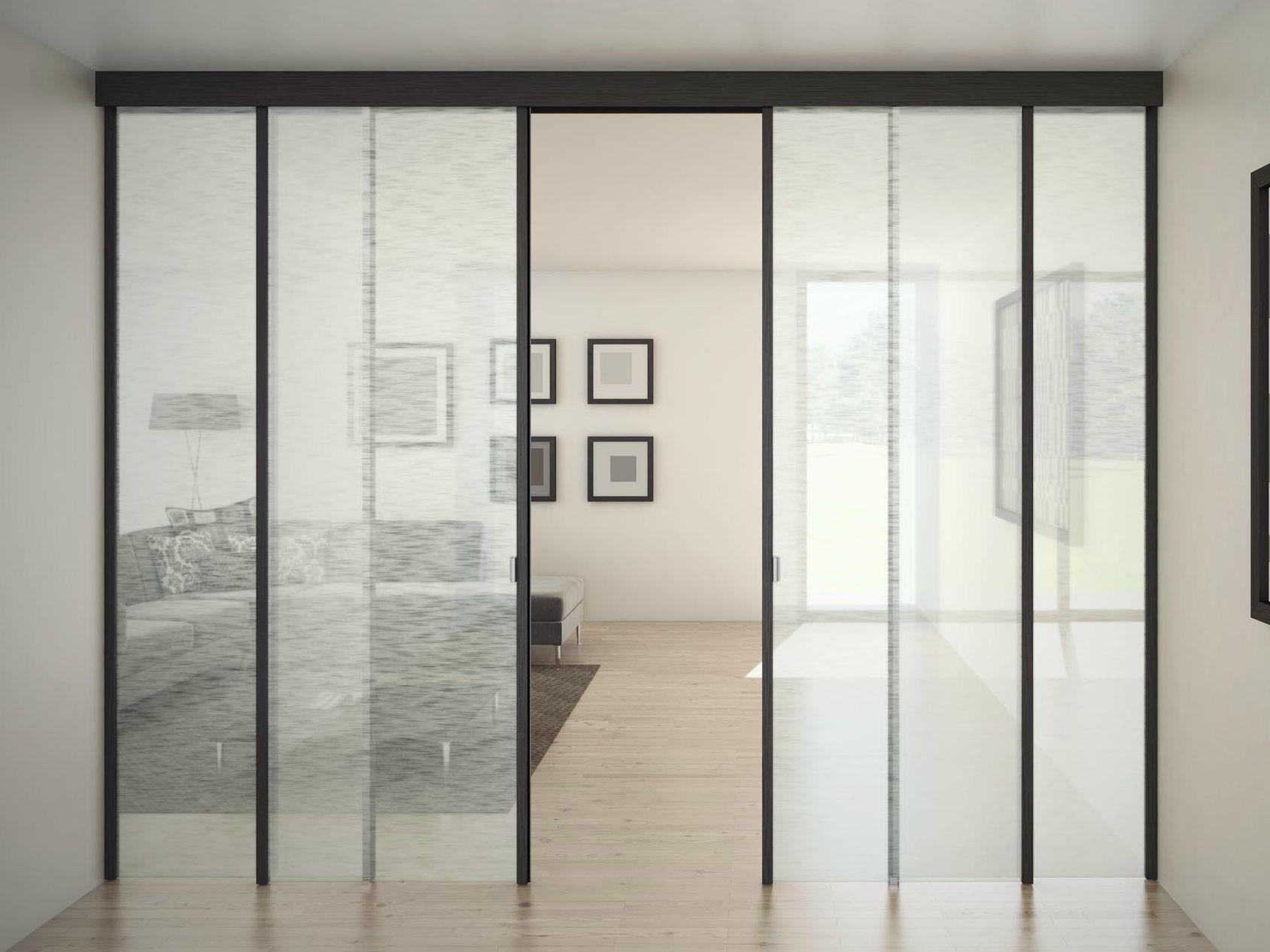 puerta corrediza de vidrio sinthesy quadra by foa