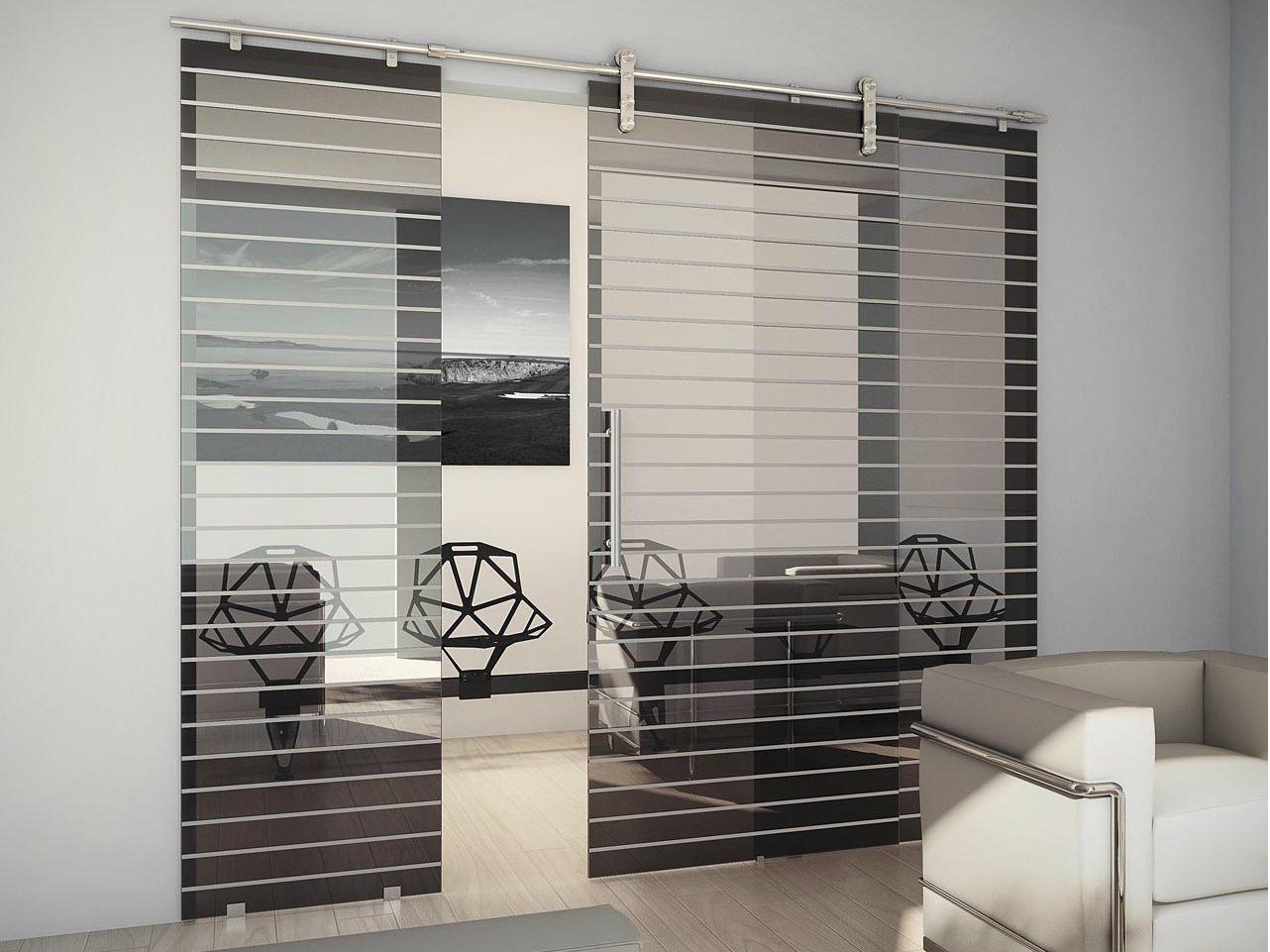 Puerta corrediza de vidrio tekno uno by foa - Puertas cristal interior ...