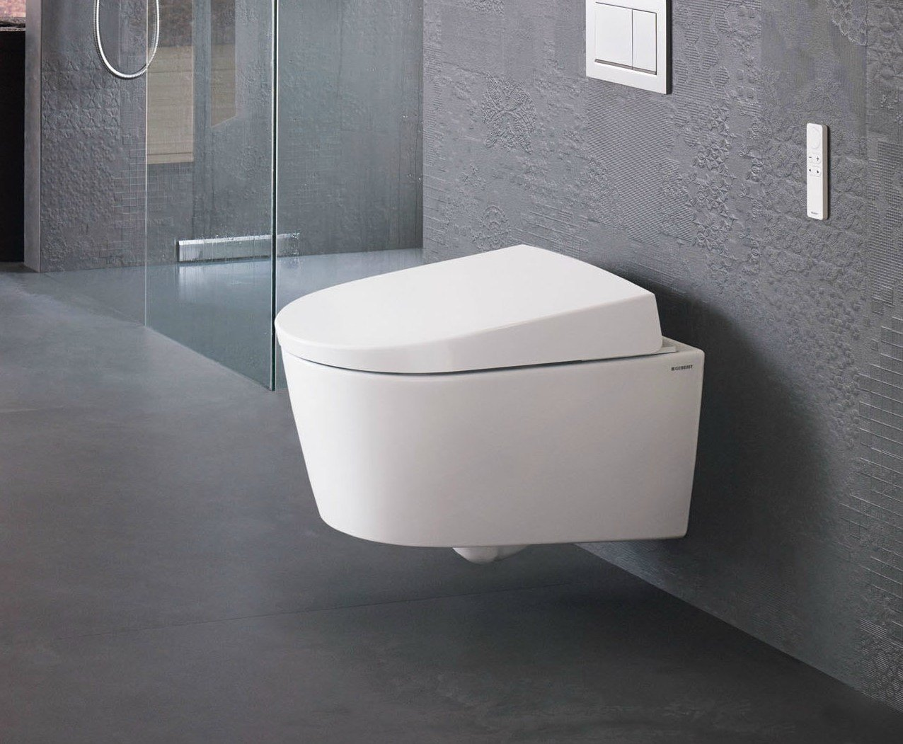 wall hung toilet with bidet aquaclean sela by geberit italia design matteo thun. Black Bedroom Furniture Sets. Home Design Ideas