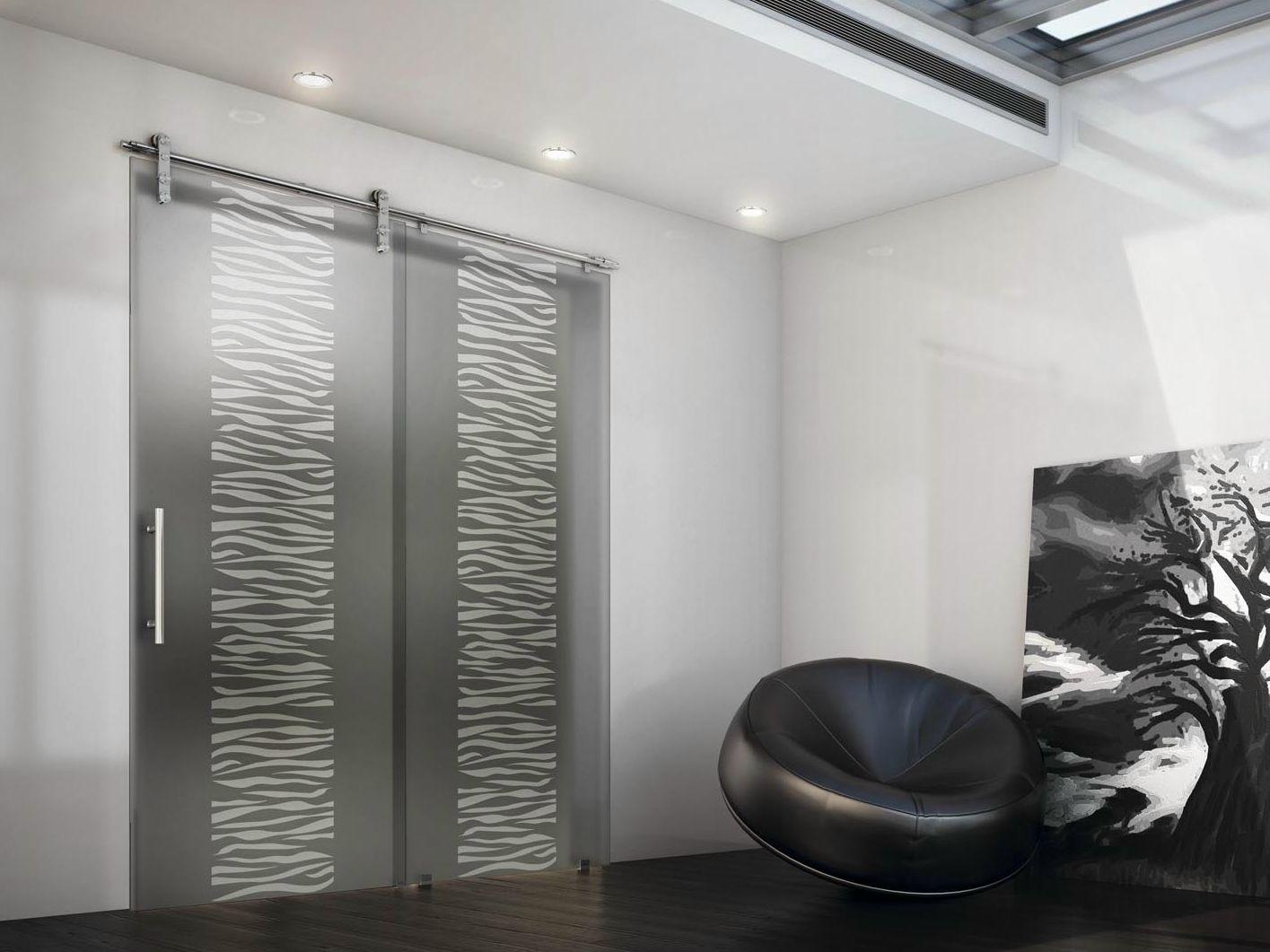 Porte coulissante en verre tekno uno by foa - Porte coulissante en verre interieur ...