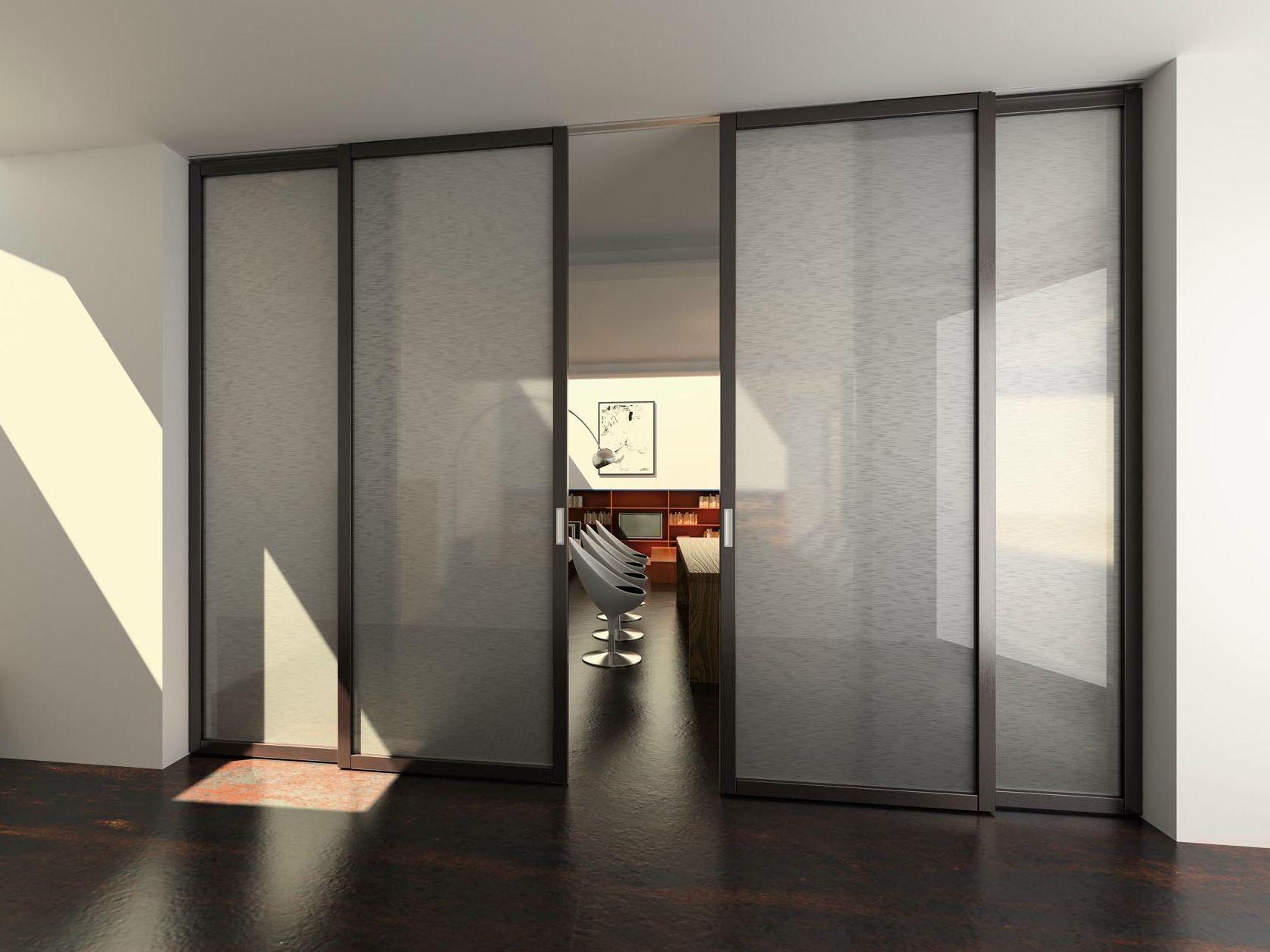 Puerta corrediza de vidrio flat f1 by foa for Precio de puertas corredizas de plastico