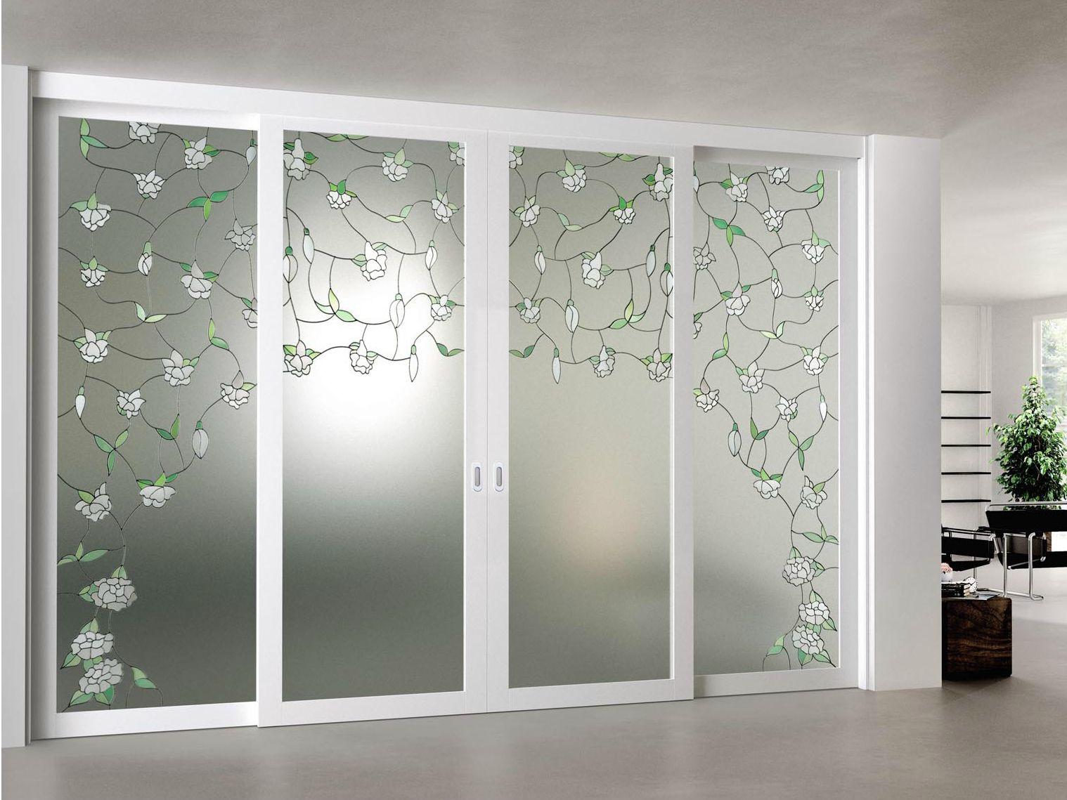 Puerta corrediza de vidrio arianna by foa for Puertas de cristal para entrada principal