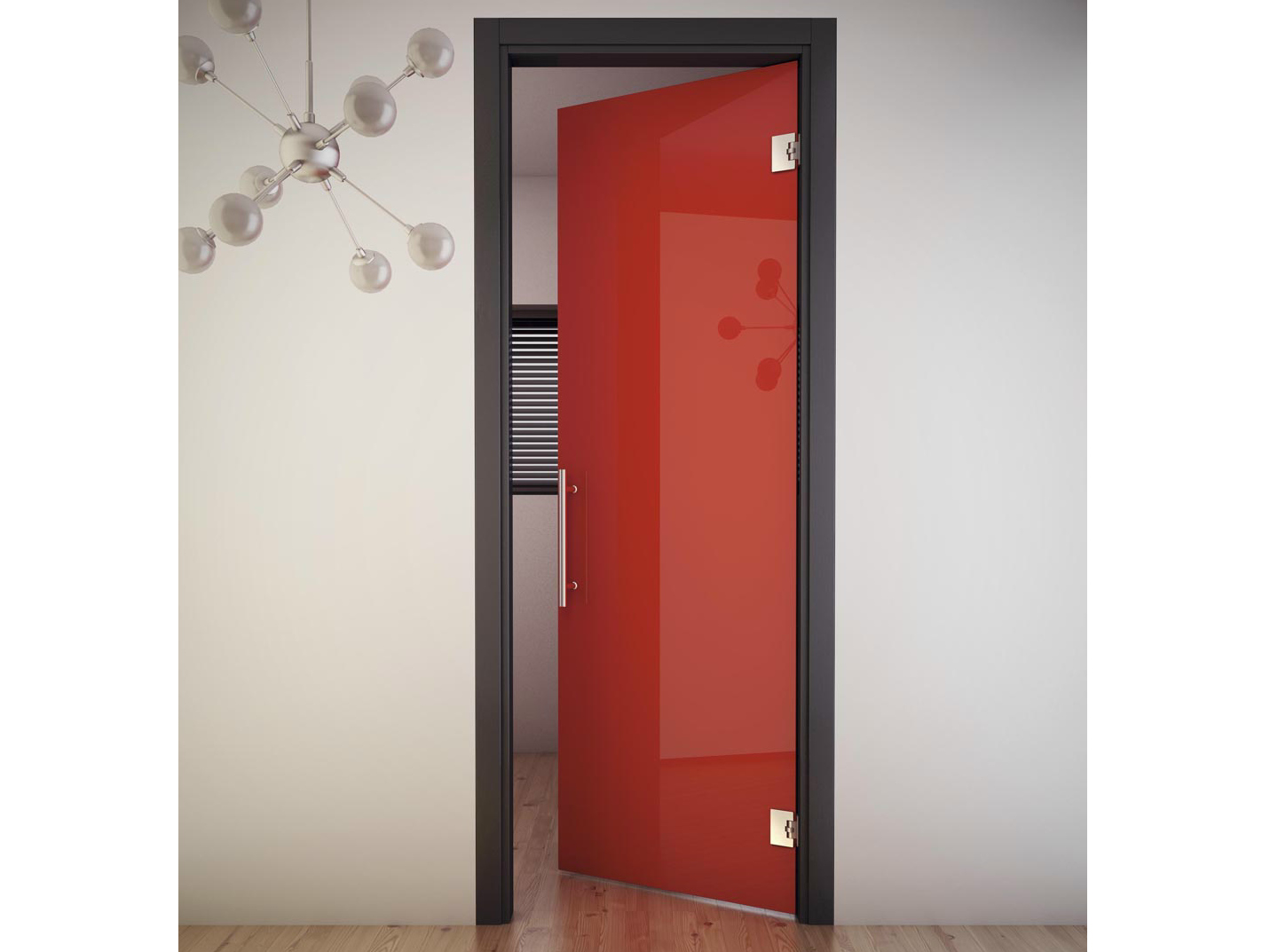 Double Acting Door With Jamb Sinthesy Sliver V3 By Foa