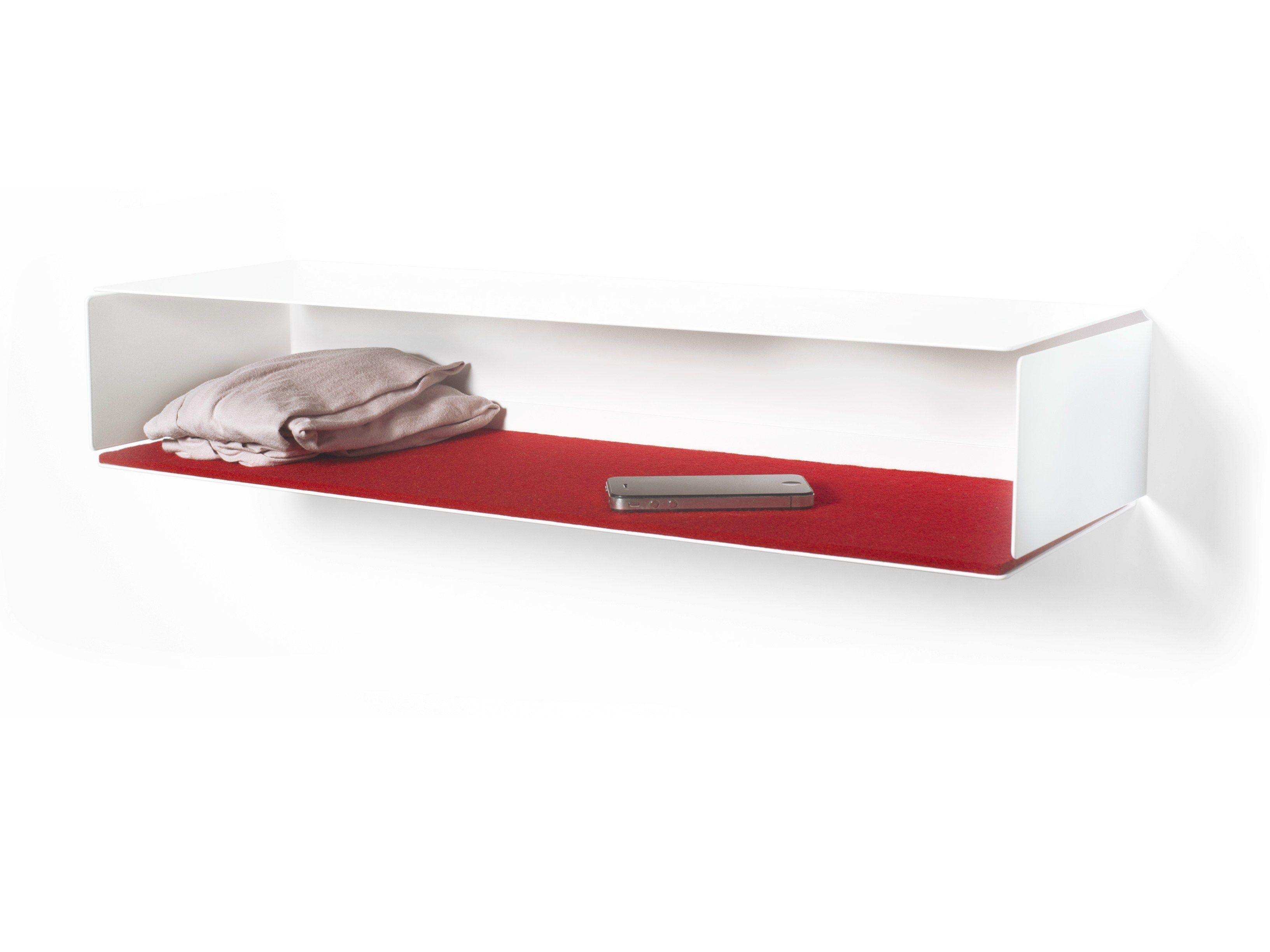 wandregal aus pulverbeschichtetem stahl side box by. Black Bedroom Furniture Sets. Home Design Ideas