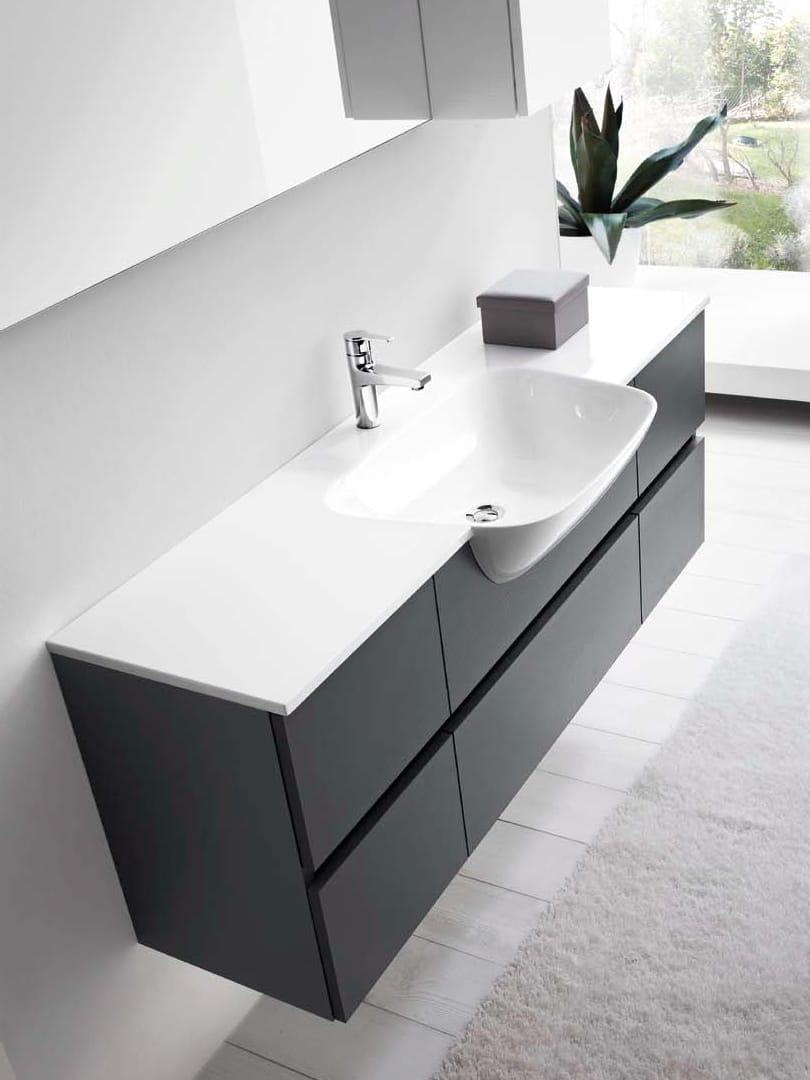 Mobile lavabo singolo 51 by rab arredobagno - Lavandino con mobile bagno ...
