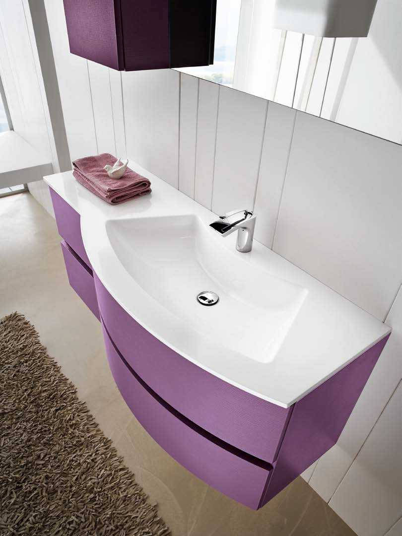 Arredo bagno completo ab 8010 collezione happy by rab - Arredo bagno colorato ...