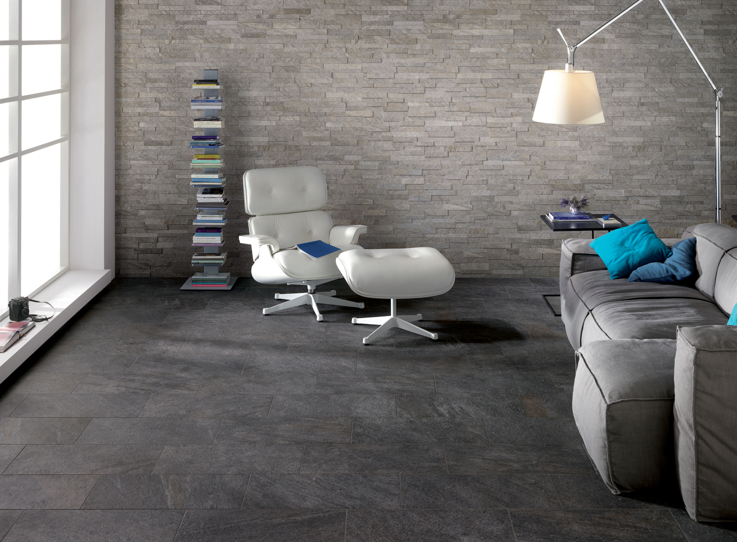 rev tement de sol mur pour int rieur et ext rieur percorsi quartz black by ceramiche keope. Black Bedroom Furniture Sets. Home Design Ideas