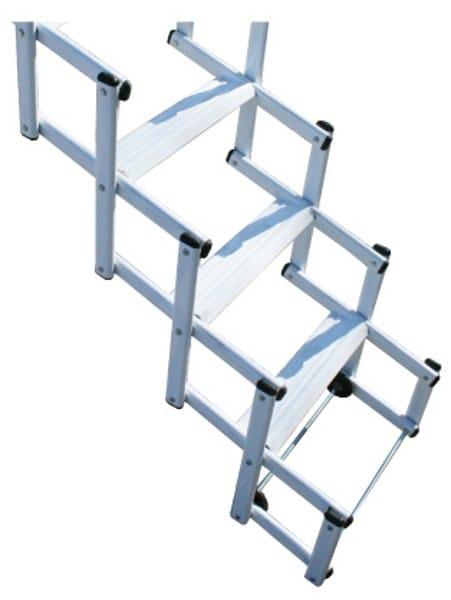 escalier escamotable motoris en acier starlux elegant by. Black Bedroom Furniture Sets. Home Design Ideas