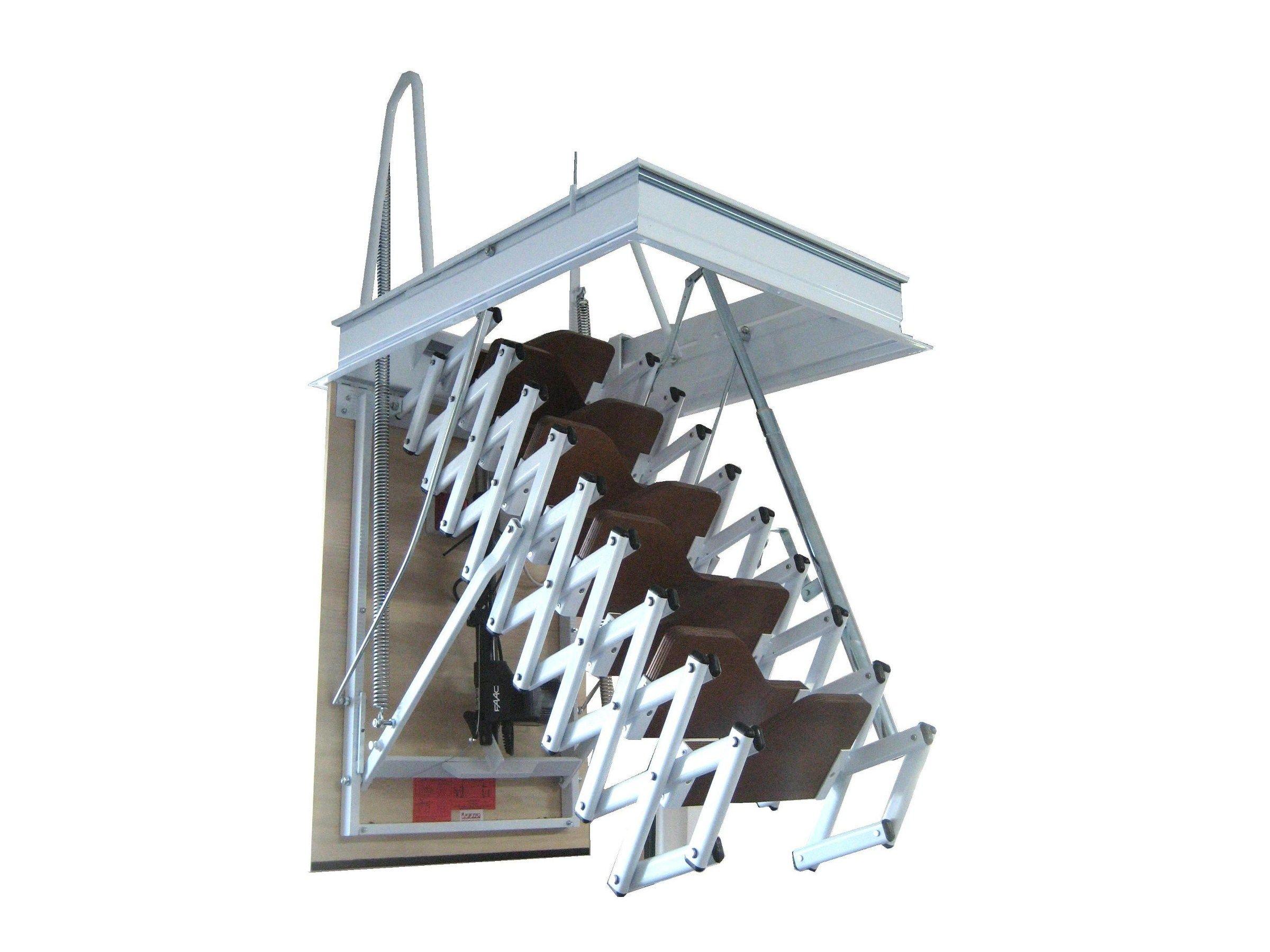 Escalier escamotable motorisé en acier STARLUX ELEGANT by