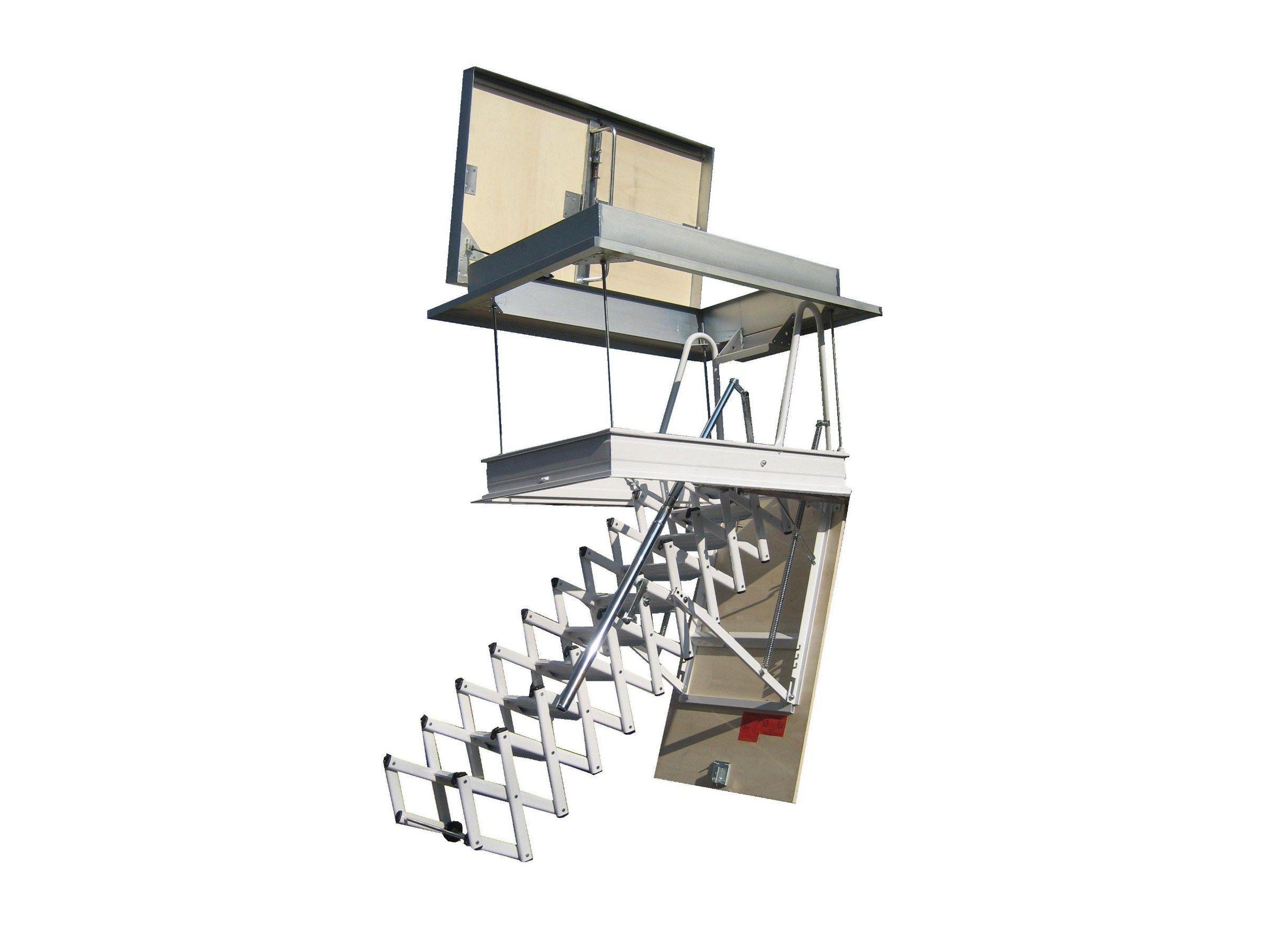 Escalera retr ctile en acero para azoteas starlux elegant for Escaleras retractiles