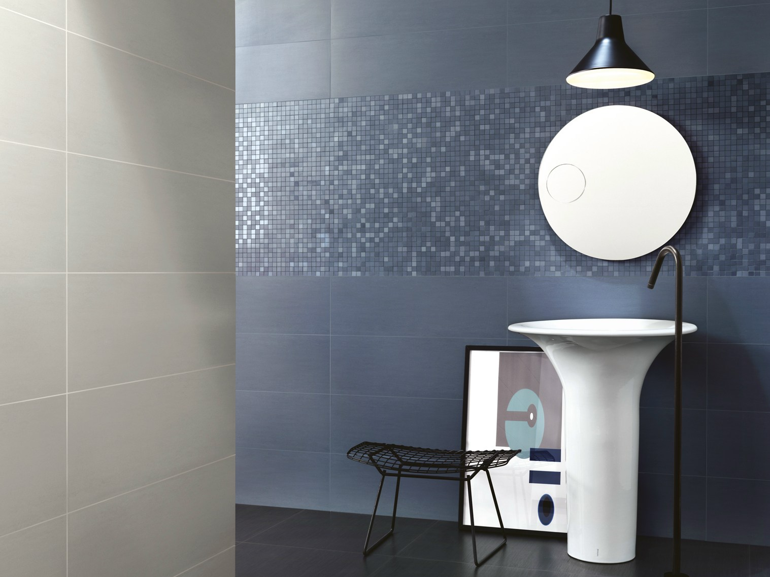 indoor white paste wall tiles trend by ragno