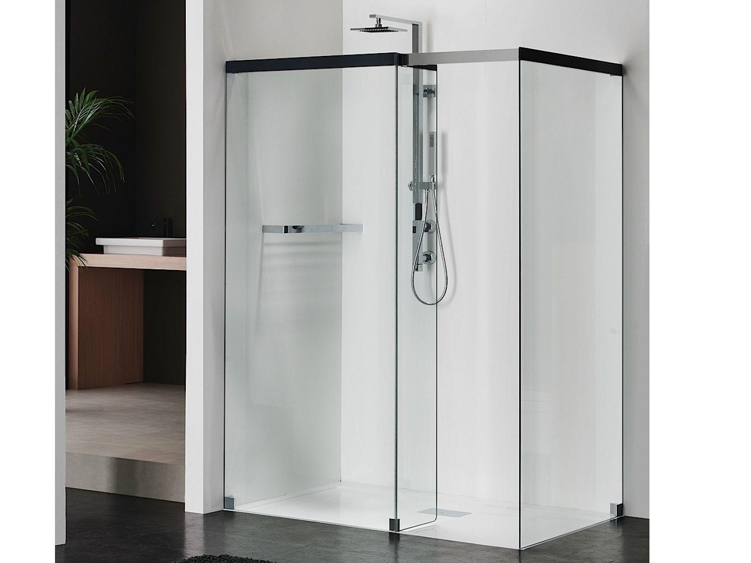 Box doccia rettangolare in cristallo libero 5000 by duka for Doccia rettangolare