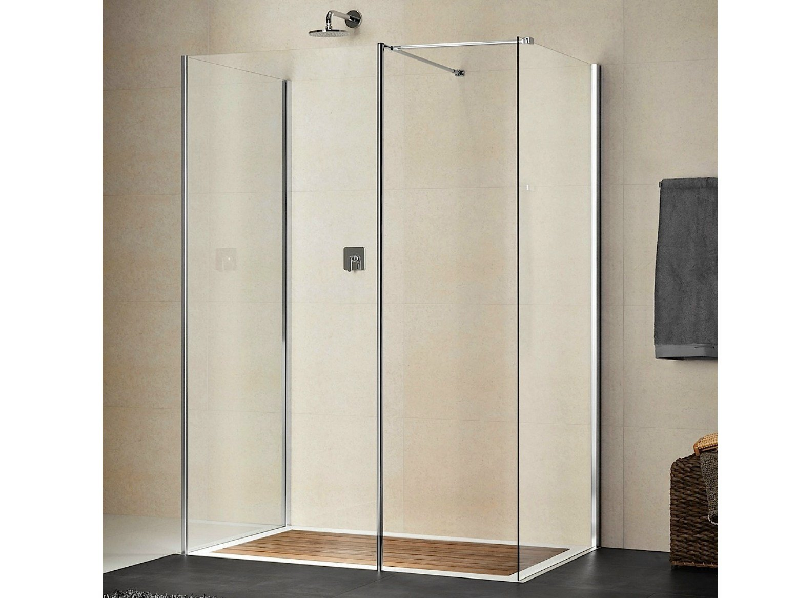 cabine de douche rectangulaire en cristal libero 4000 by duka. Black Bedroom Furniture Sets. Home Design Ideas
