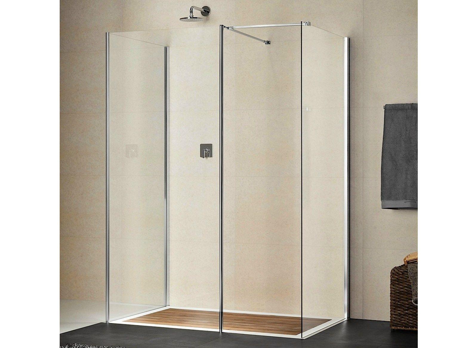 Box doccia rettangolare in cristallo libero 4000 by duka for Box doccia cristallo