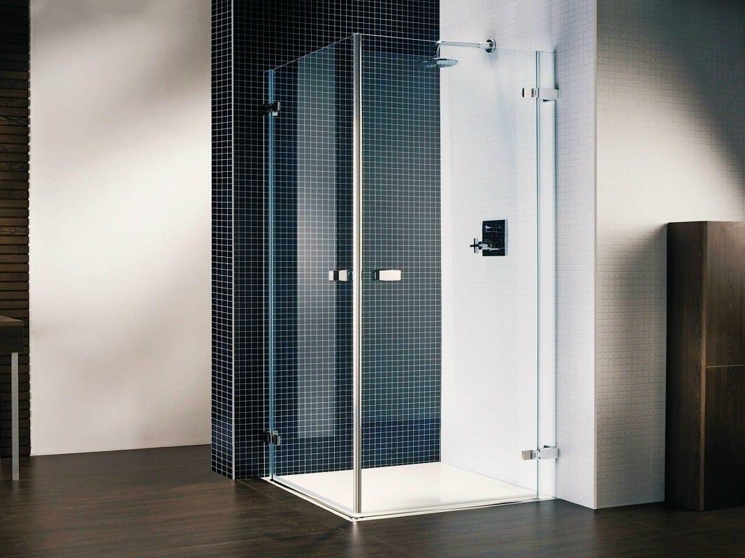 Box doccia in cristallo vetra 3000 by duka - Box doccia senza telaio ...