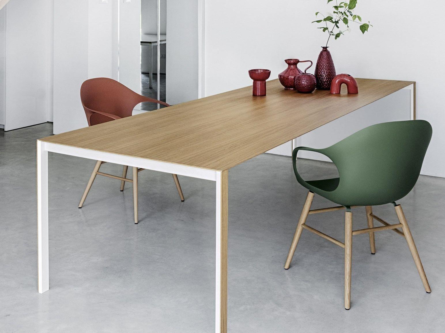 Rechteckiger tisch aus holz thin k wood by kristalia for Tisch design wood