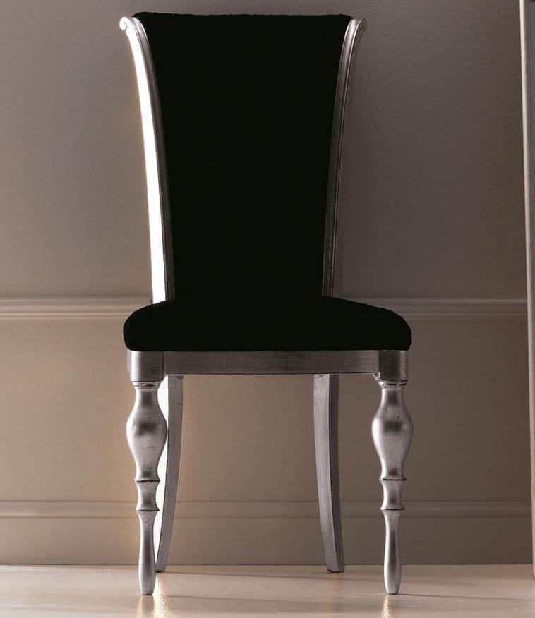 Sedia imbottita in tessuto con schienale alto zoe by cortezari - Schienale sedia ...