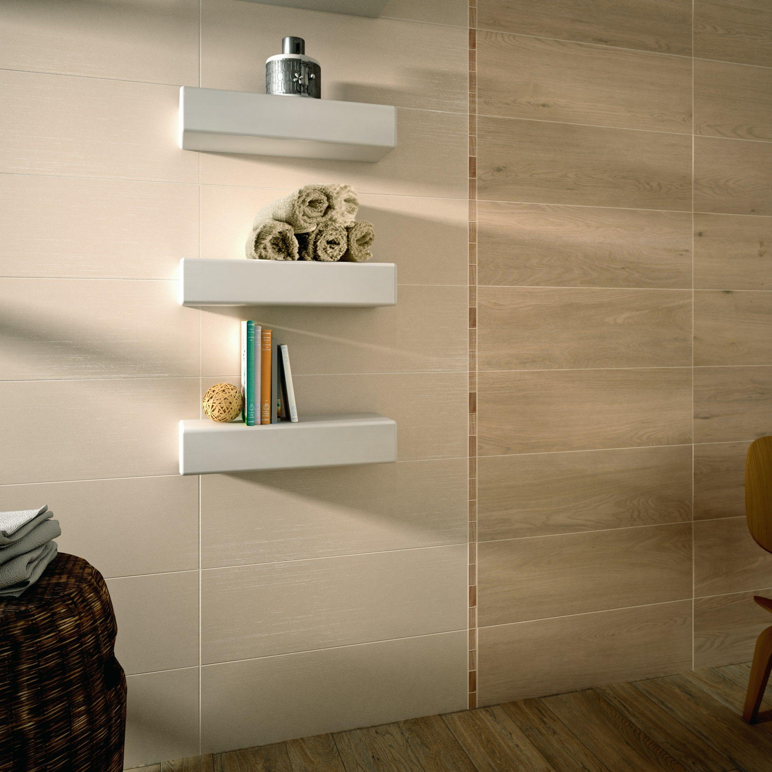 rev tement mural en c ramique p te blanche effet bois wood. Black Bedroom Furniture Sets. Home Design Ideas