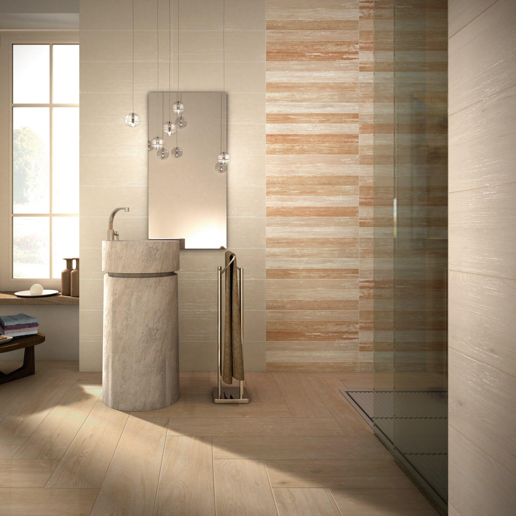 rev tement mural en c ramique p te blanche effet bois wood wall warm by flaviker contemporary. Black Bedroom Furniture Sets. Home Design Ideas