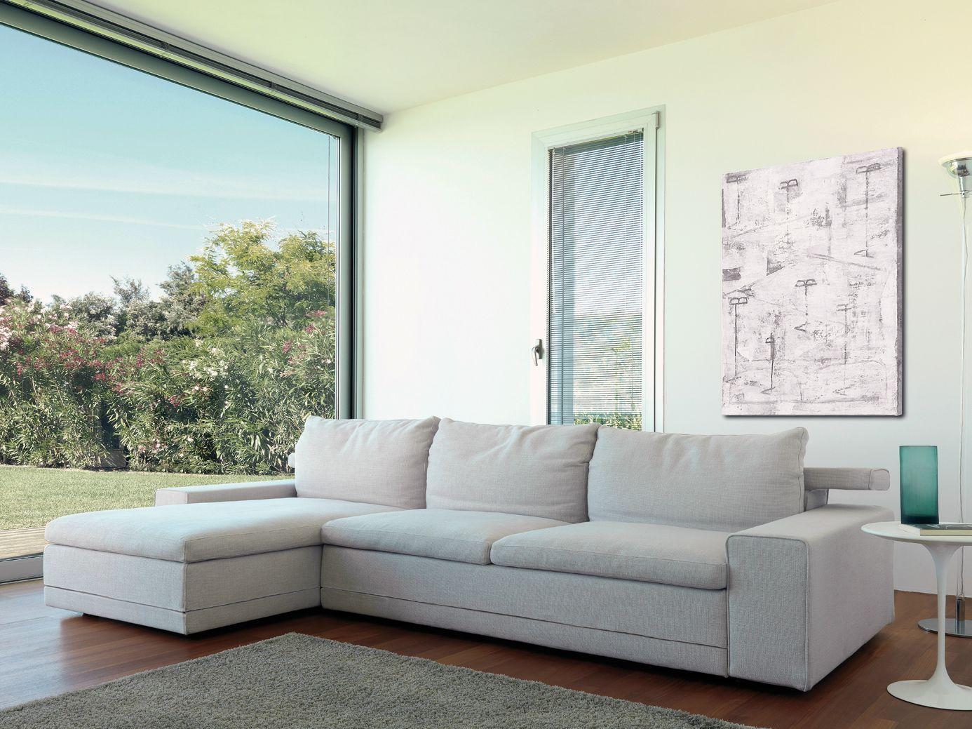 All in divano con chaise longue by bodema design roberto - Divano con poggiapiedi ...
