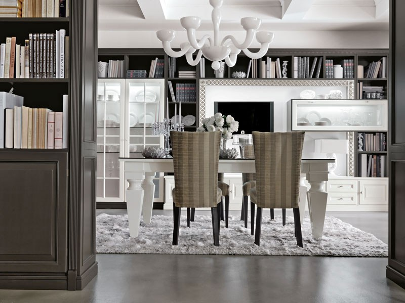 Libreria laccata in stile classico COMO by Martini Mobili