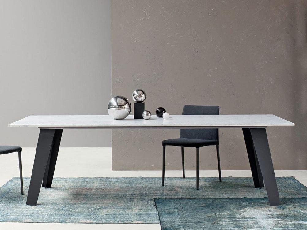 Table Rectangulaire En Marbre Welded By Bonaldo Design