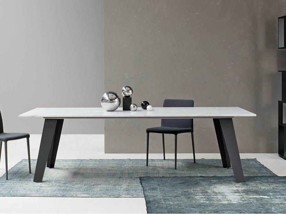 tavolo rettangolare in marmo welded by bonaldo design ForTavolo Marmo Design