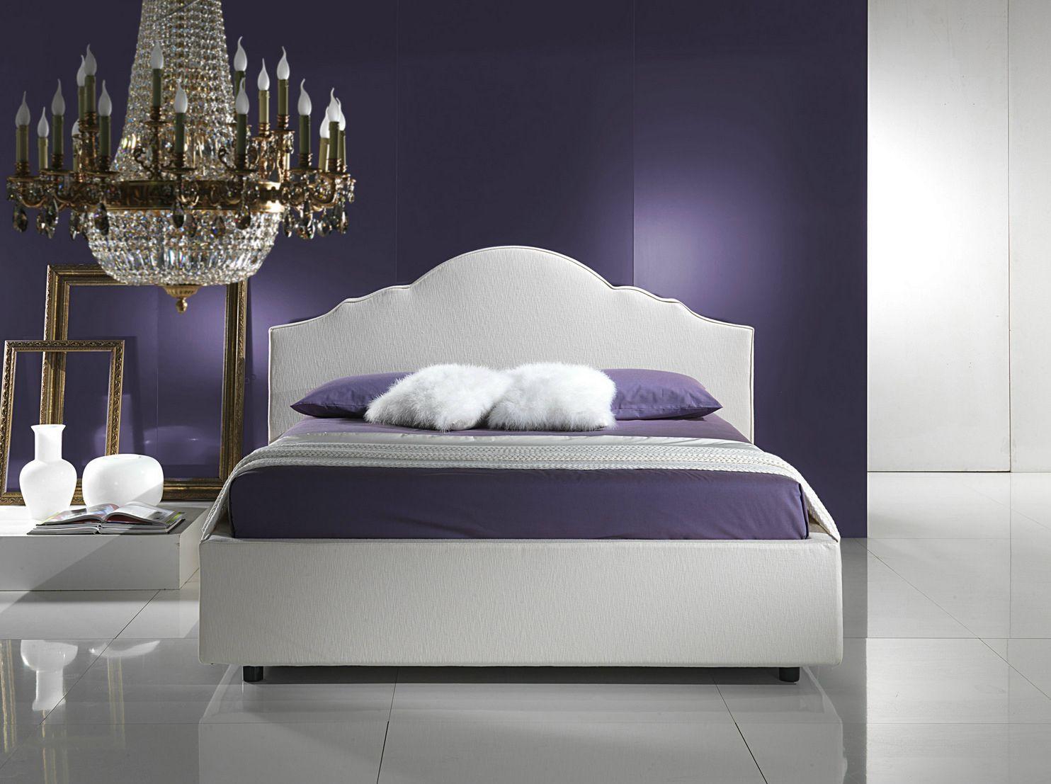 cama doble con funda extrable con cabecera tapizada tiffany by bodema diseo adriano castiglioni
