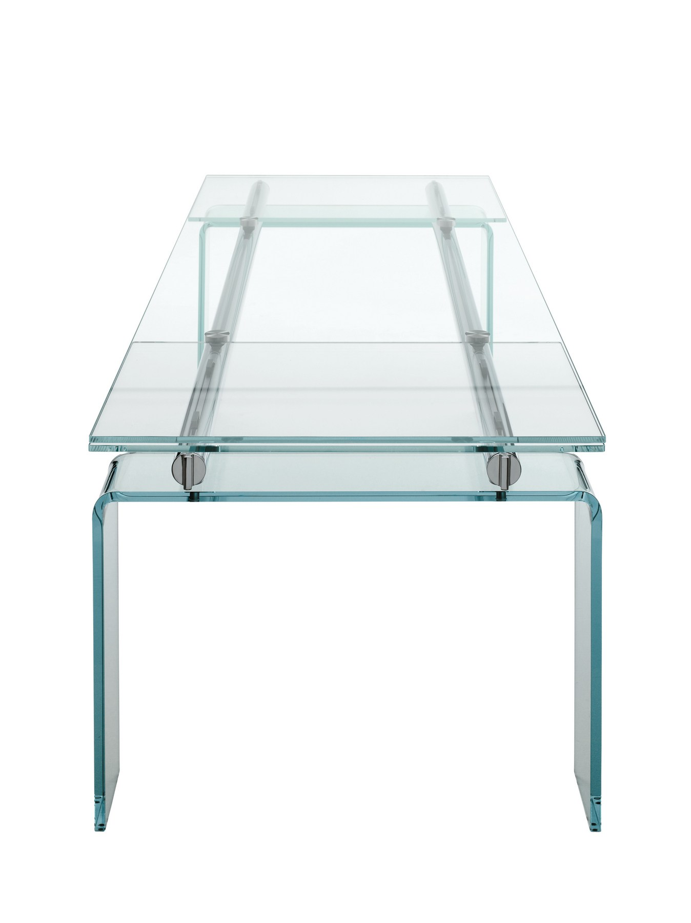 Tavolo allungabile in cristallo stilt glass by desalto for Glass tavoli cristallo