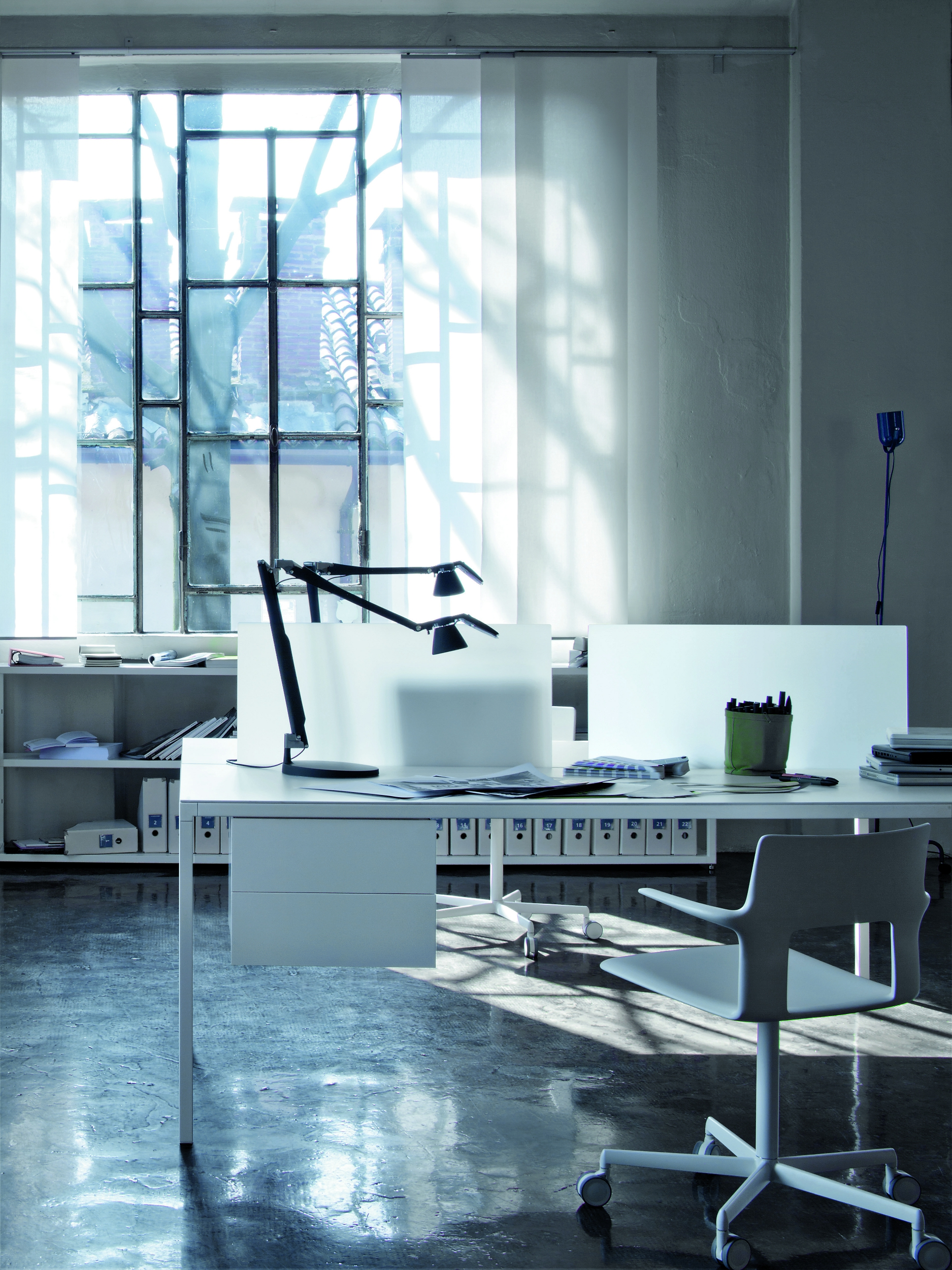 Scrivania operativa rettangolare helsinki office for Scrivania componibile