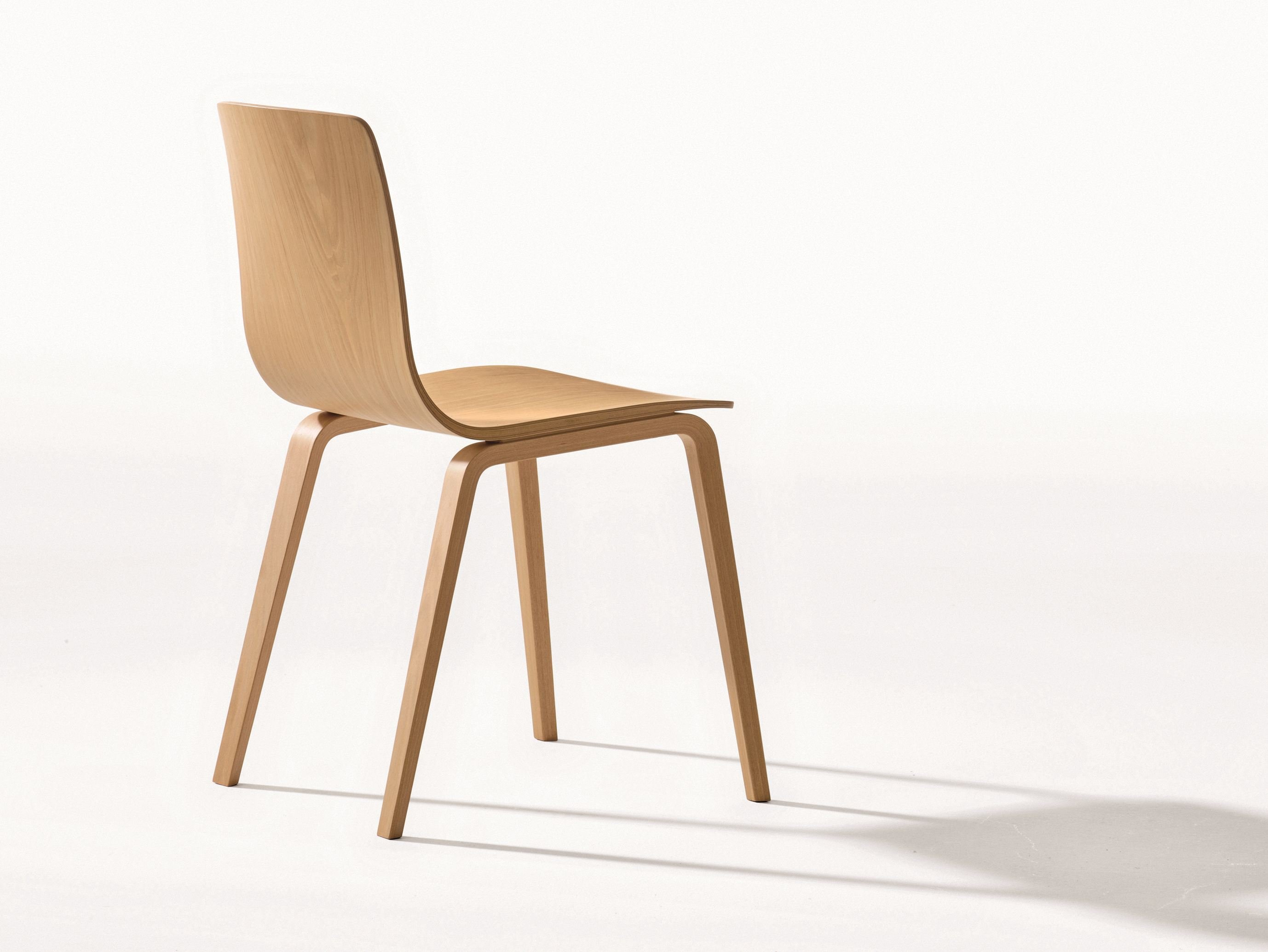 Stackable wooden chair aava collection by arper design antti kotilainen - Chaises blanches en bois ...