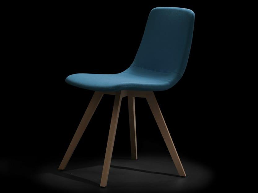 chaise rembourr e en bois collection ics by capdell design fiorenzo dorigo. Black Bedroom Furniture Sets. Home Design Ideas