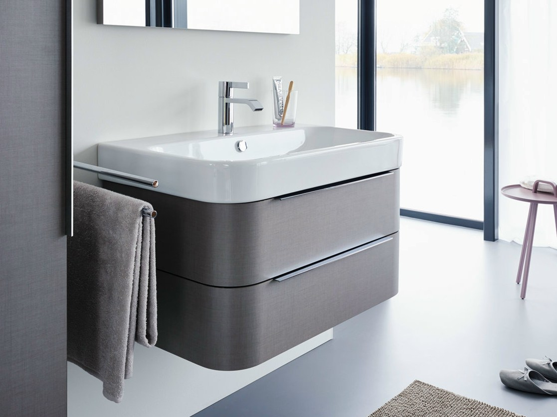 Happy d 2 vanity unit by duravit design sieger design for Meuble salle de bain duravit
