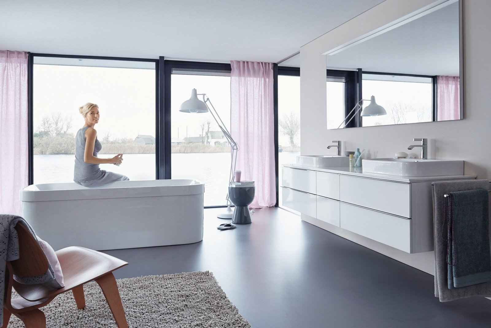 Happy d 2 bathroom mirror by duravit design sieger design for Salle de bain duravit